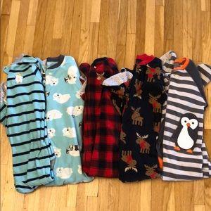 5 pairs of Fleece Jammies